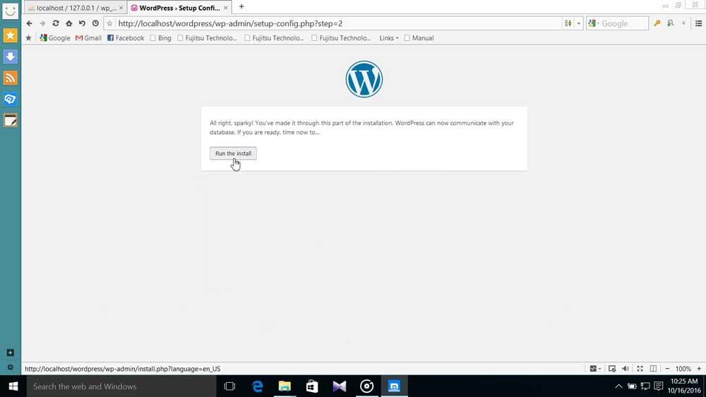 Run WP Install