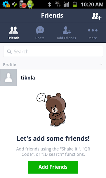 Line on Android