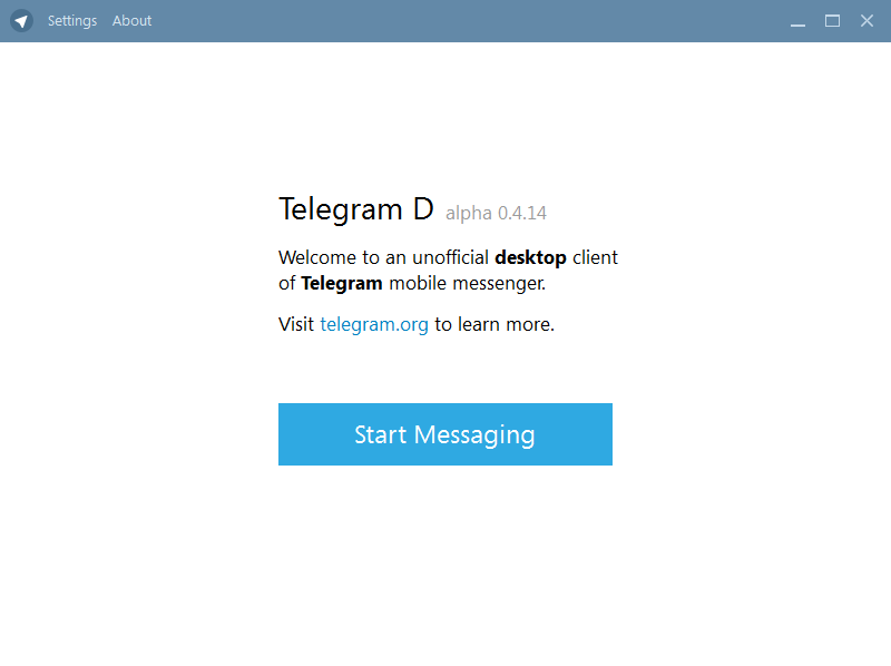Start messaging in Telegram messenger