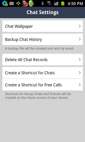 Backup Chat History in Line app on Android