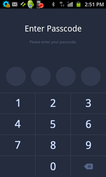 You will have to enter Passcode every time Line starts