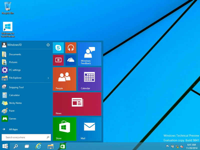 windows 10 start menu windows 7 vs windows 10