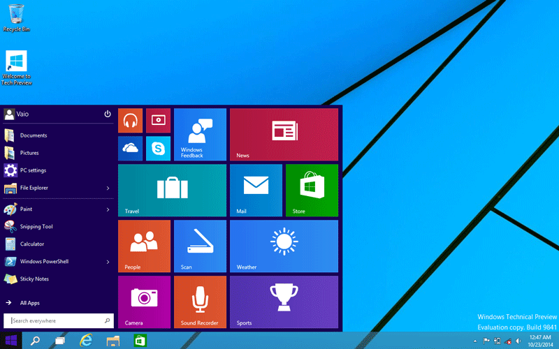 Windows 10 Review screenshot