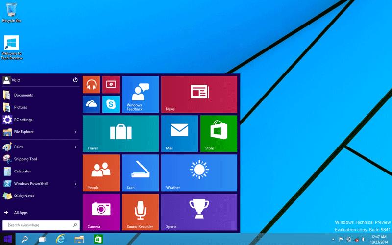 Windows 10 Review screenshot