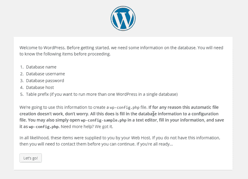 WordPress Installation Instructions