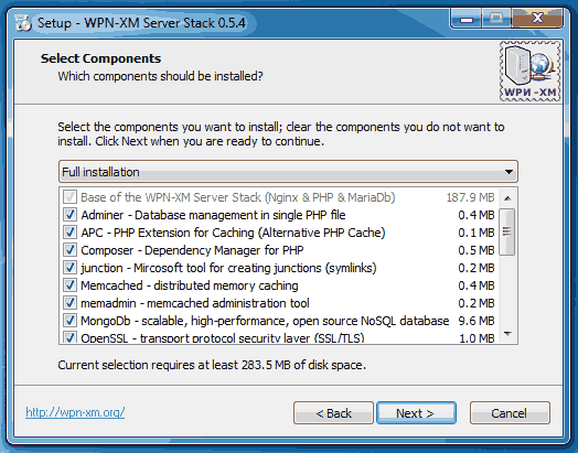select all components
