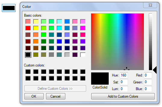 input type color