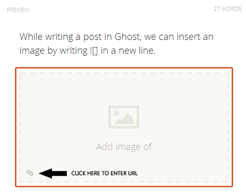 Enter Image URL in Ghost