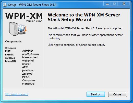 wpn-xm setup wizard