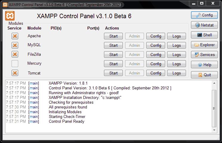 xampp server download for windows 7 32 bit