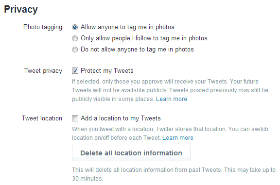 Protect tweets in Twitter