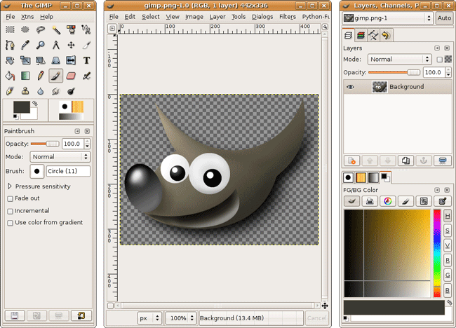 GIMP Screenshot
