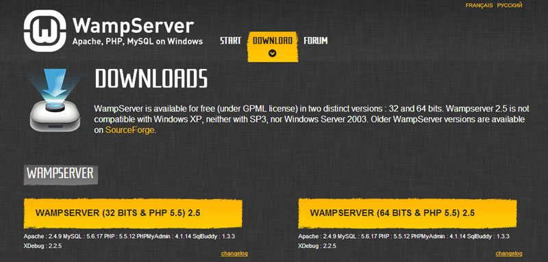 Wamp Server for Windows 8.1
