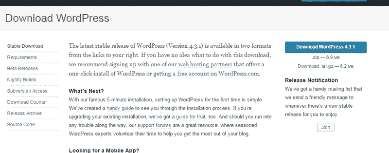 Download WordPress - Installing WordPress on Wamp