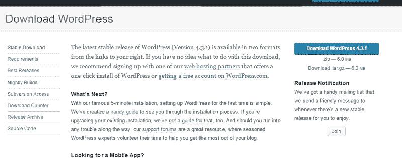 Download WordPress - Installing WordPress on Wamp