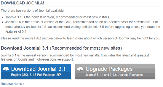 joomla download page