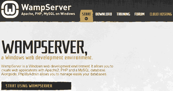 wamp server website